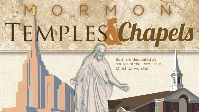 Mormon Temples chapels differences print Infographic