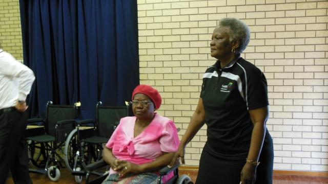 Umlazi BB Wheelchair handover