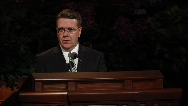 Elder Scott D. Whiting of the Seventy speaks at the Saturday afternoon session of general conference, 6 October 2012