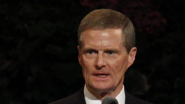 Elder David A. Bednar of the Quorum of the Twelve Apostles speaks at the Sunday afternoon session of general conference, 7 October 2012