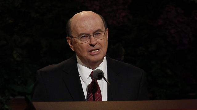 Elder Quentin L. Cook of the Quorum of the Twelve Apostles speaks at the Saturday morning session of general conference, 6 October 2012