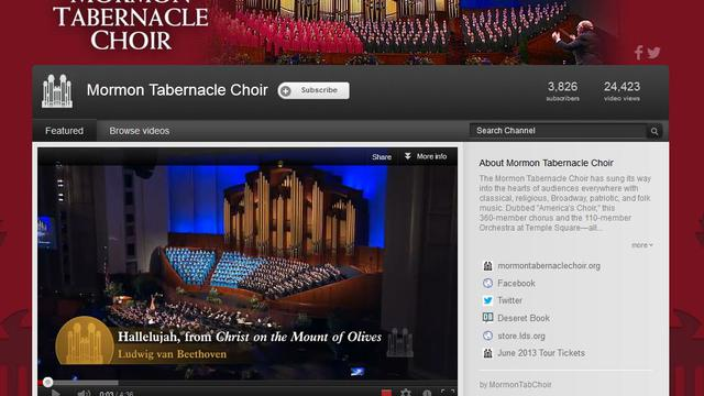 Mormon Tabernacle Choir YouTube Channel