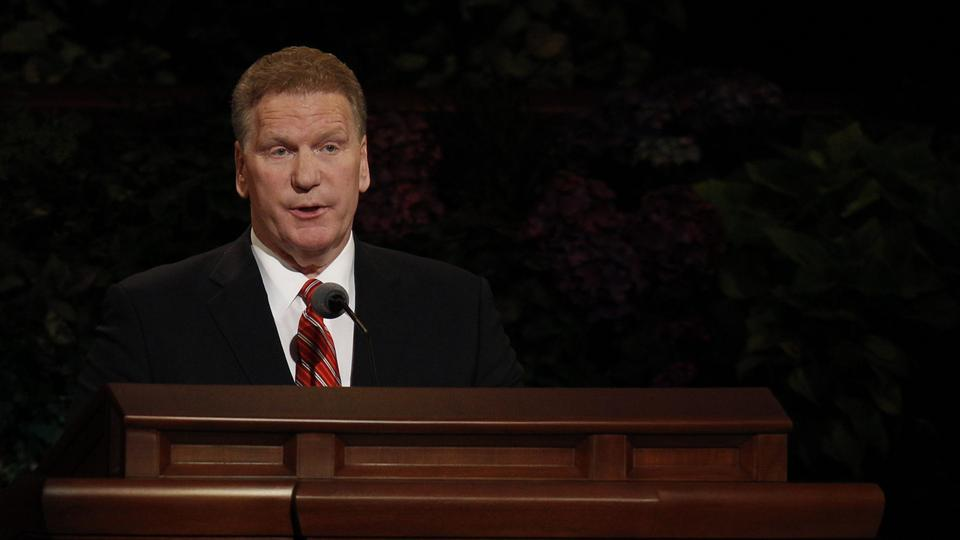 Elder Craig C. Christensen of the Presidency of the Seventy speaks at the Saturday morning session of general conference, 6 October 2012