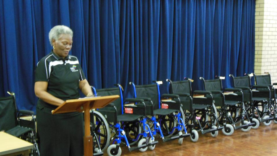 Umbali BB wheelchair handover